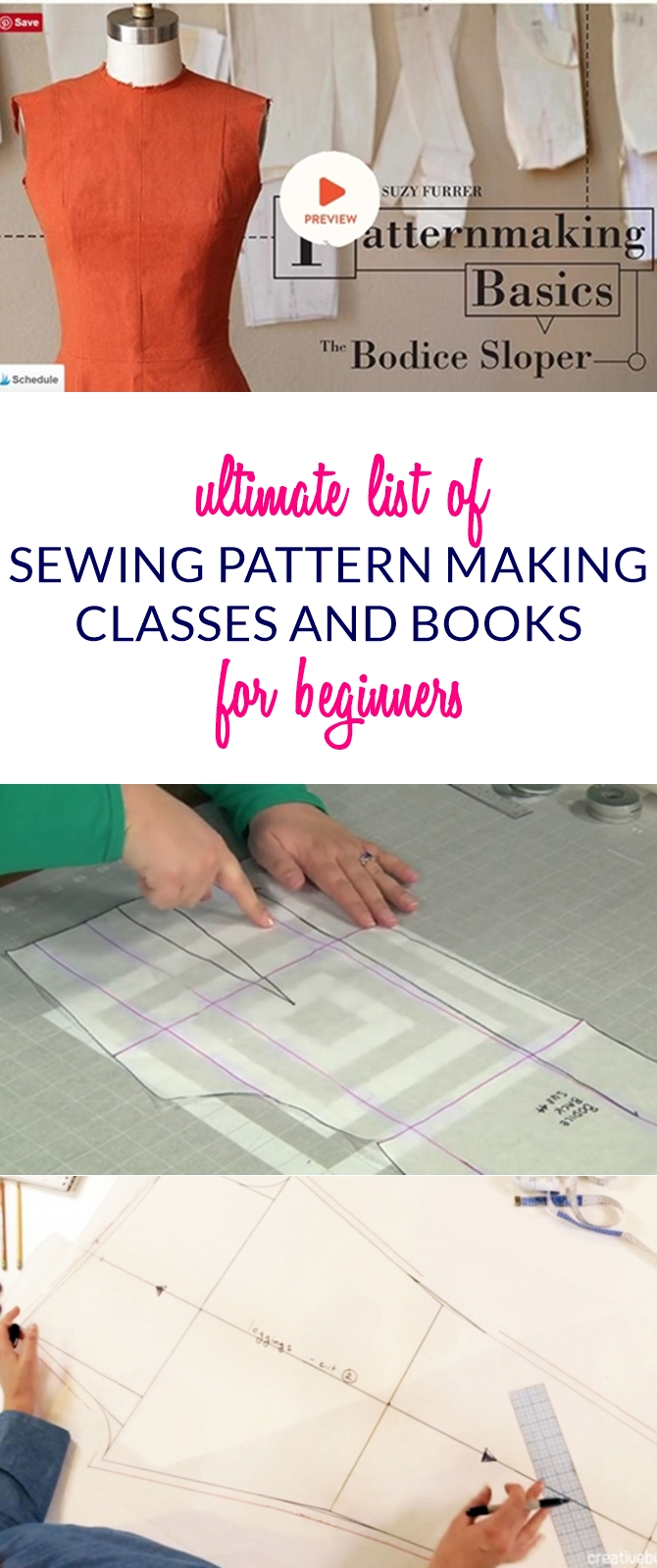 ultimate list of sewing pattern making resources for beginners