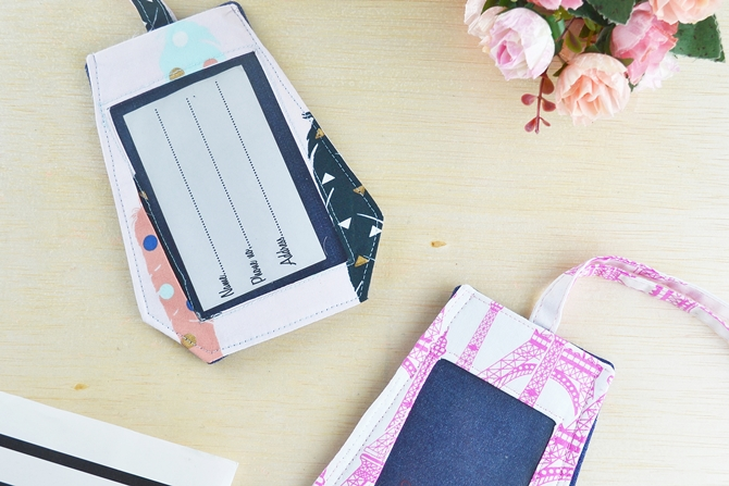 BEST Schmancy DIY Luggage Tags Plus Video Tutorial