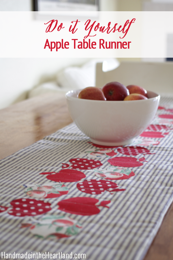 How to Sew a Quilted Apple Table Runner?