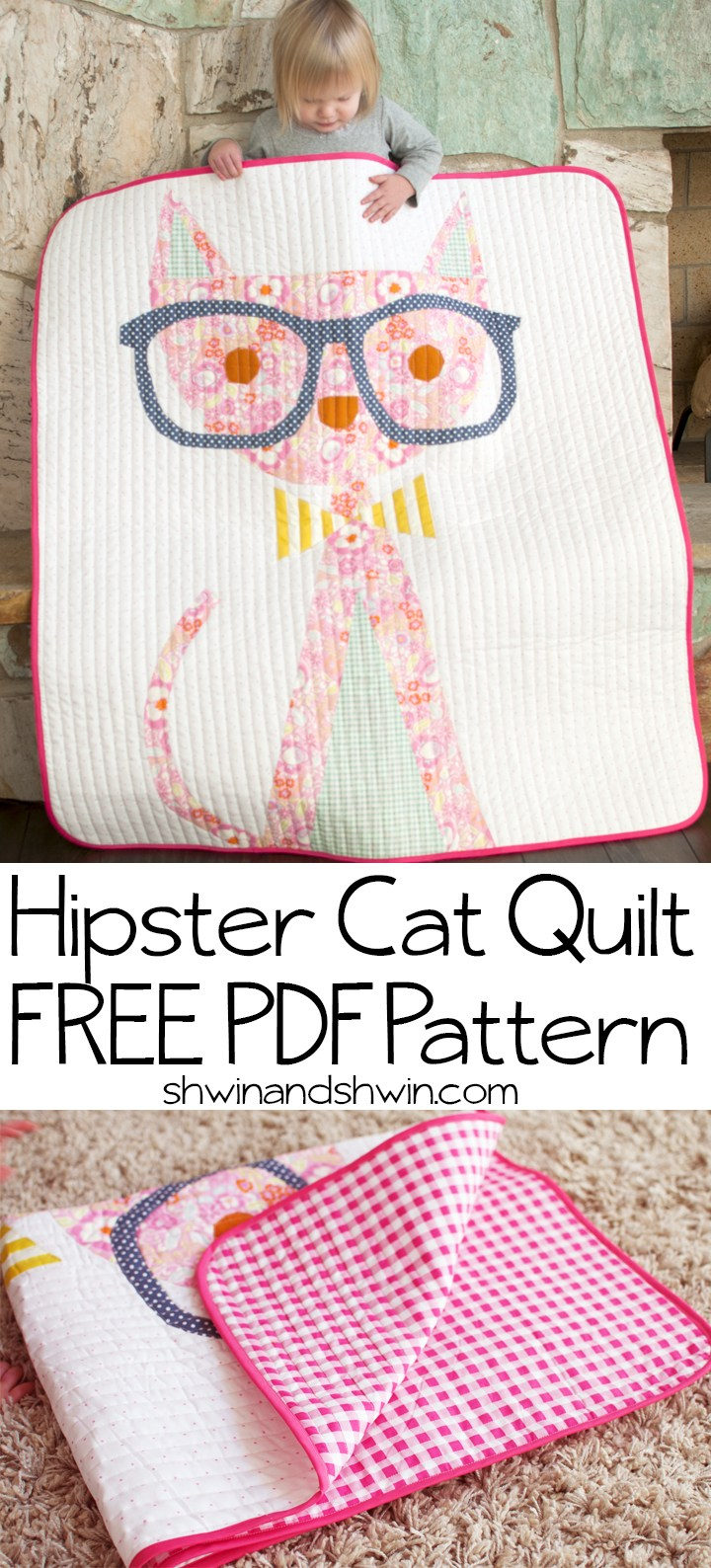 How to Sew a Hipster Cat Quilt?