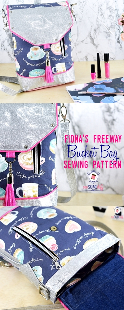 Fiona's Freeway Bucket Bag Sewing Pattern | bag sewing patterns | free bag patterns | purse patterns