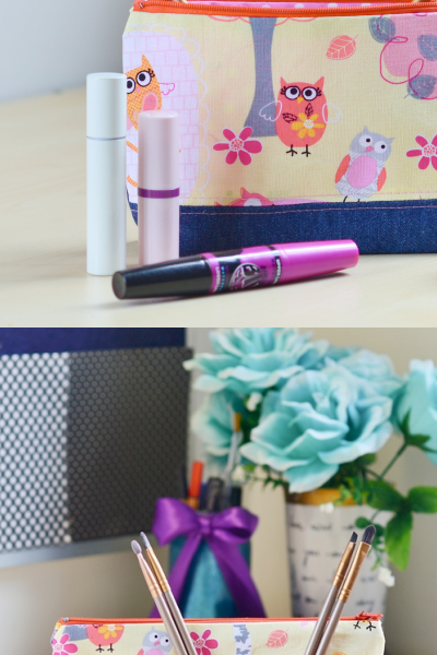 How to Make a Makeup Bag Step-by-Step with Pockets