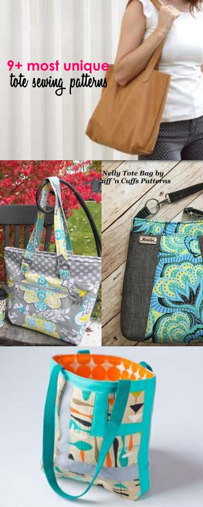 9+ Unique Tote Bag Patterns and Tutorials That you Will LOVE - Sew ...