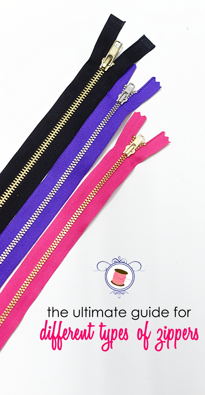 types of zippers | different types of zippers | zipper length chart | how to sew zippers | zipper teeth | zipper lengths | zipper top stop | parts of zippers | zipper sewing tips | how to sew a zipper