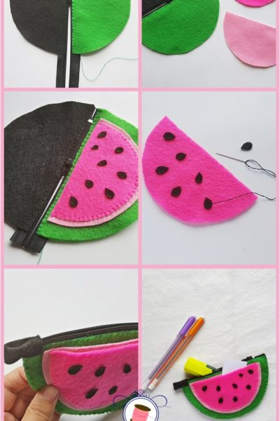 How to Sew a Watermelon Zipper Pouch