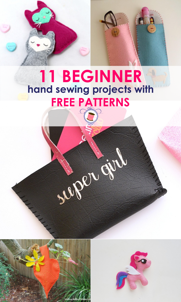 Simple Hand Sewing Projects for Beginners | easy sewing projects for gifts | BEGINNER SEWING PROJECTS | first sewing projects for adults |