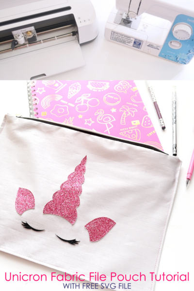 Unicorn Fabric File Folder Tutorial w/ Cricut Maker + FREE SVG