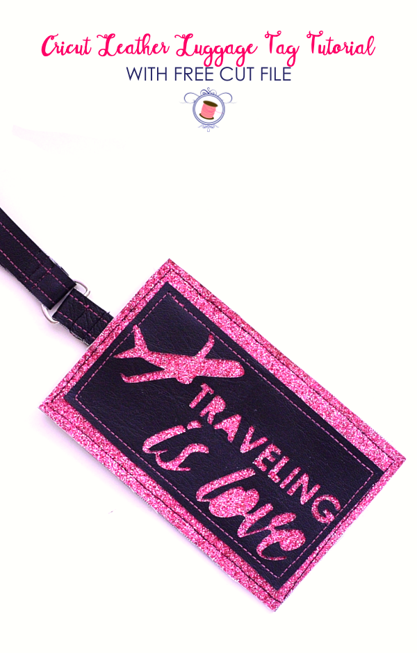 cricut luggage tags | diy leather luggage tag | diy luggage tags | luggage tag template | cricut maker sewing projects | free svg cricut maker