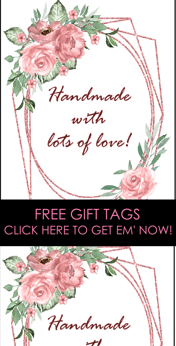 Free Printable Handmade Labels | made with love tags | handmade with love stickers | made especially for you labels | free printable handmade gift tags