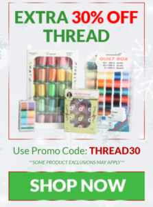 thread storage ideas 30% off threads - sewing deals - deals for crafters - learn to sew - free sewing patterns