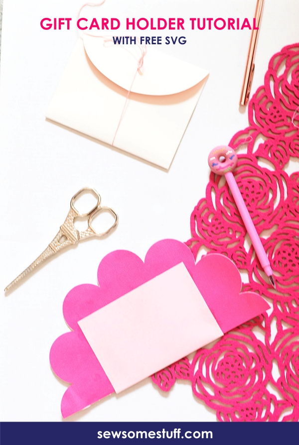 In this post, you will find Free Gift Card Holder SVG and tutorial on how to make your own gift card holder using the free SVG template provided.